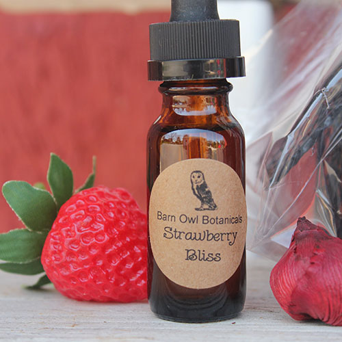 bottle of scented oil dropper