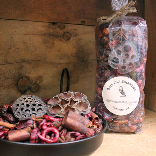 strawberry scented potpourri bag