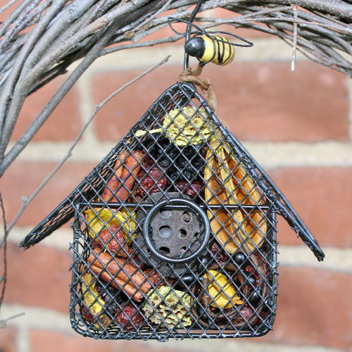 wire birdhouse potpourri holder